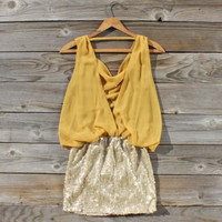 Sequined Fall Dress, Sweet Women's Country Clothing