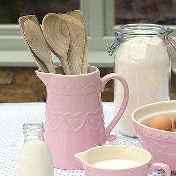 Pink Heart Table Jug