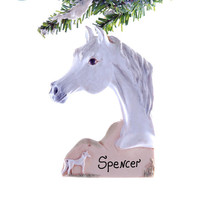Arabian horse Christmas ornament - personalized arabian ornament - Majestic beauty of the Arab horse captured in this handmade ornament