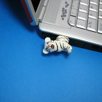 White Tiger Cub USB Flash Drive by hemingwayfun on Etsy