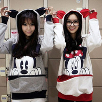 New Ladies Cute Korean Japanese Teddy Panda Bunny Bear Hoodie Shirt Top Sweater
