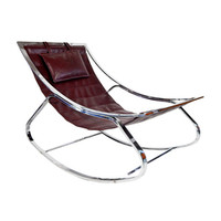 American Chromed Steel Lounge Rocker