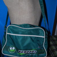 Vintage Keroppi Skyway travel bag, green travel bag, sanrio bag, unisex bag