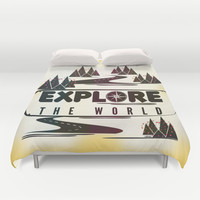Explore the world Duvet Cover by Famenxt