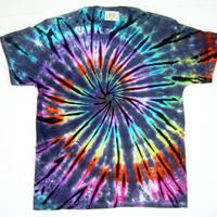Tie Dye Shirt/ Adult Large/ Pastel Inverted Rainbow Spiral