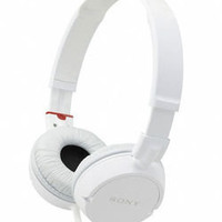 Sony (MDR-ZX100/WHI) Noise Reducing White On-Ear Stereo Headphones