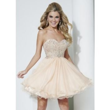 Hannah S 27966 Glitzy Strapless Dress