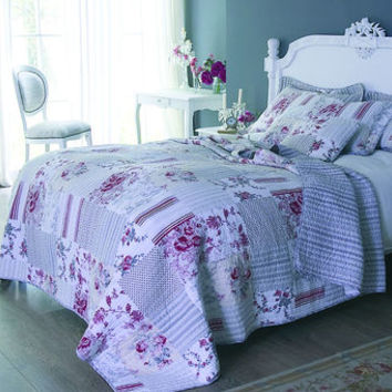 Cottage Style Quilted Single Bedspread
