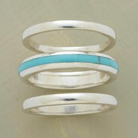 STREAK OF TURQUOISE RING TRIO        -                Fall Favorites        -                Jewelry                    | Robert Redford's Sundance Catalog