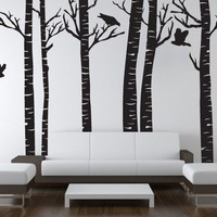 Vinyl Wall Sticker Decal Art  Birch Trees by urbanwalls on Etsy