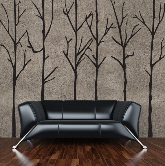 Vinyl Wall Sticker Decal Art  Twig Trees by urbanwalls on Etsy