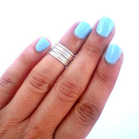 Set of 7 Above the Knuckle Rings  - Staking Rings - Stackable Rings -  Above Knuckle Ring -  by Tiny Box