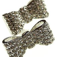 Diamante dickie earring