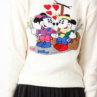tea and tulips boutique - one of a kind vintage. — vintage 80's mickey mouse sweater