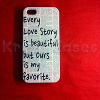 Iphone 5 Case, New iPhone 5 case Every love story is beautiful  iphone 5 Cover, iPhone 5 Cases, Case for iPhone 5