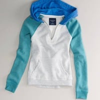 AE Colorblock Fleece Hoodie | American Eagle Outfitters