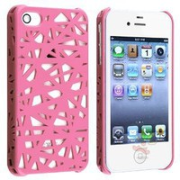 Amazon.com: Everydaysource For Apple iPhone 4/4S Snap-on Hard Case, Pink Bird Nest Rear: Cell Phones & Accessories
