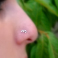 Infinity Nose Ring Sterling Silver Handcrafted