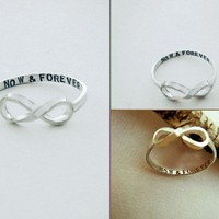 Custom Message Infinity Ring exclusively by donnaodesigns
