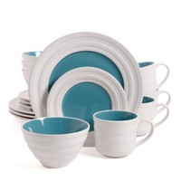 Isaac Mizrahi Caribbean Color 16-Piece Dinnerware Set, Blueberry