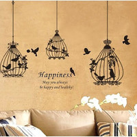three nest nests cute bird birds nursery baby room Art Decals Wall Stickers Vinyl Wall sticker Decal living room bed room 474
