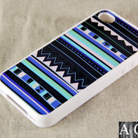 Seamless Pattern iPhone 4 iPhone 4S Case, Rubber Material Full Protection