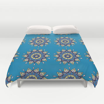 Midnight Star Pattern Duvet Cover by PeriwinklePeacoat