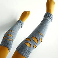 okapi autumn leg warmers by okapiknits on Etsy