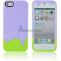 New Hot 3D Melt Ice Cream Hard Case Cover For. iPhone 5 5G 5th Gen Purple+ GR