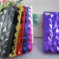 New Arrival 3D Diamond shape Eletroplating Hard Case Cover For Apple iPhone 5 5G