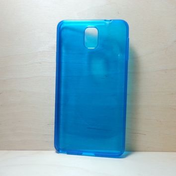 For Samsung Galaxy Note 3 Blue Transparent TPU Soft Silicone Case
