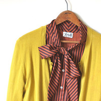 vintage CINNAMON SPICE bow tie blouse by SimpleThrift on Etsy