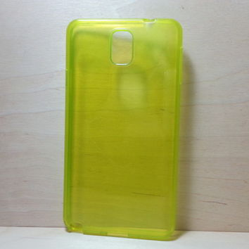 For Samsung Galaxy Note 3 Yellow Transparent TPU Soft Silicone Case