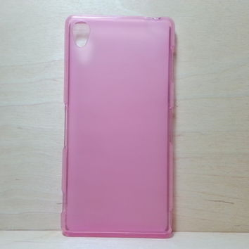 For Sony Xperia Z3 Soft TPU translucent Color Case Protective Silicone Back Case Cover - Pale Pink
