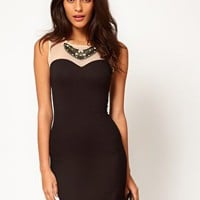 Paprika Embellished Mesh Bodycon Dress at asos.com