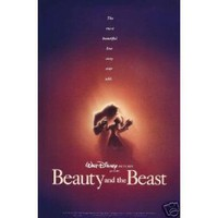 Beauty and the Beast Adv Single Sided Original Movie Poster 27x40