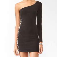 Lattice Panel Bodycon Dress