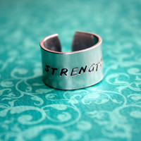 Custom Hand Stamped Aluminum Ring