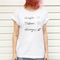 LOCAL HEROES  HUNGRY white tee