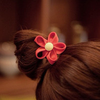 Cute Watermelon Red Flower Ponytail Holder wholesale