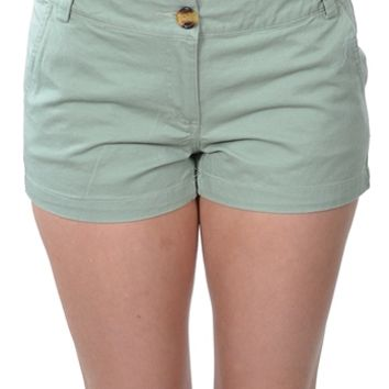 Mint Chino Shorts