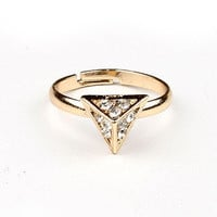 Shimmering Pyramids Midi Ring | Mid Finger Rings at Pink Ice