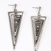 Tribal Triangle Earrings | Trendy Earrings at Pink Ice