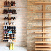 cantilever shelf  FURNISHINGS -- Better Living Through Design