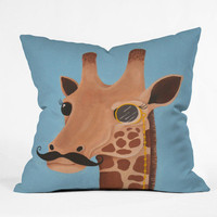 DENY Designs Home Accessories | Mandy Hazell Gentleman Giraffe Throw Pillow