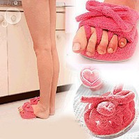 Japan Cute Pink Girls Weight Loss Slipper Fat Buster Leg Slim Shape Half Sole