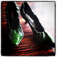 Emerald Green Patent Leather Stiletto High Heels with by SewRed