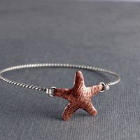 Starfish Rope Bracelet, Beach jewelry, ocean jewelry, Gifts for her, Gifts under 45.00, Starfish Bangle