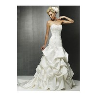 Pick-Up Skirt Fit-To-Flare Mermaid Sweetheart Appliques Satin Lace Wedding Dress - Star Bridal Apparel