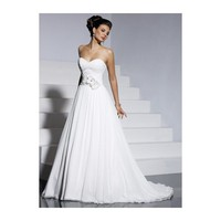 A-line Sweetheart Pleated Flower Chiffon Wedding Dress - Star Bridal Apparel